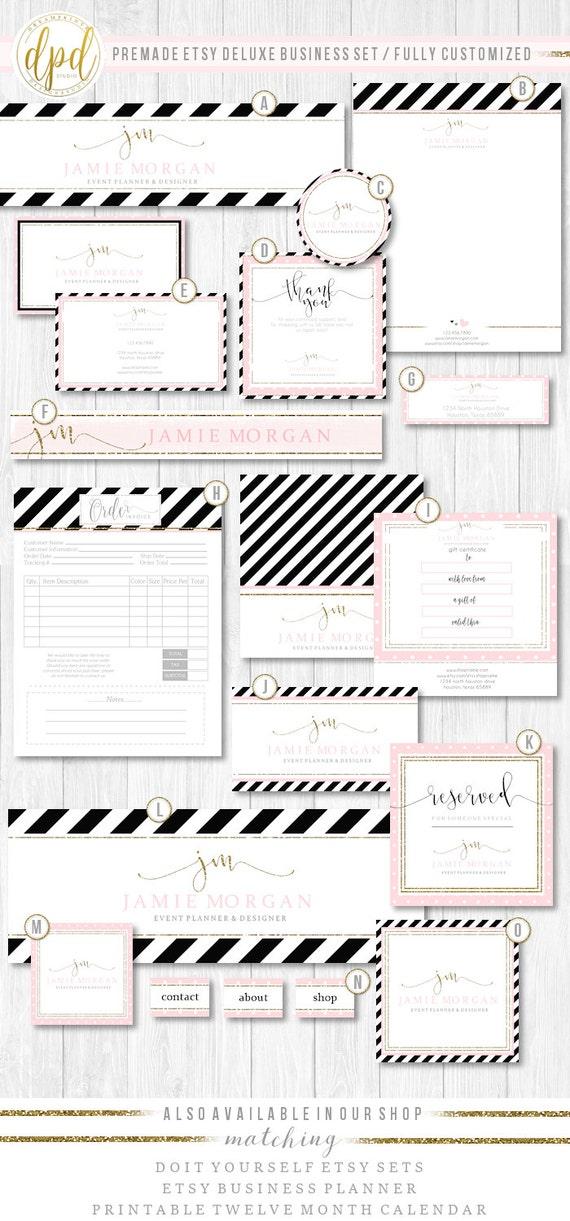 Premade Etsy Business Set | Etsy Set | Premade Shop Set | Etsy Shop Graphics | Etsy Business Set | Business Prints | INSTANT DOWNLOAD-TR593