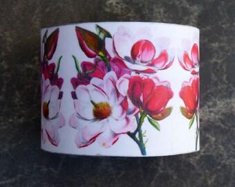 Sakura polymer clay cuff