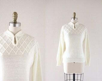 S A L E cozy cream pullover sweater