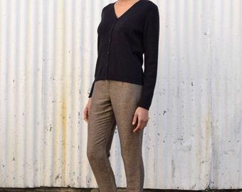 Vintage Merino Wool Minimalist 1990's Classiques Cardigan Sweater S/M
