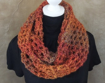 Homemade Crochet Infinity Scarf