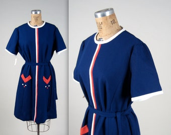 1960s deadstock mod dress • vintage 60s dress • color block Twiggy dress