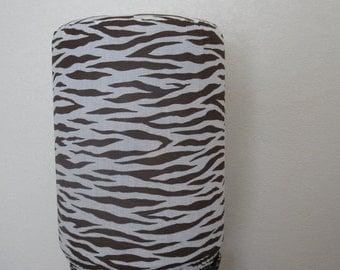 Brown Zebra Bottle Decor-5 Gallon Water Bottle Cover