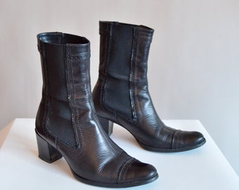 Vintage 1990s CHELSEA leather ankle boots /8