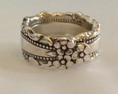 Spoon Ring Royal Lace Choose Your Size 6 to 12 Vintage Silverplate Silverware Jewelry