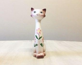 Vintage cat figurine, vintage cat, ceramic cat, porcelain cat, kitten figurine, cat collectible, cat decor, cat statue, cat retro, cat lover