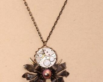 Spider Necklace Spider Jewelry Spider Pendant Steampunk Necklace Steampunk Jewelry Steampunk Pendant