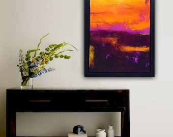 Abstract Painting 24x36 colorful modern painting