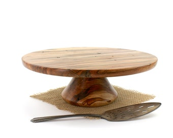 Ambrosia Maple Cake Stand,  Pedestal Cake Plate, Wedding Cake Stand,Dessert Pedestal, Hostess and Gourmet