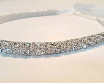 Rhinestone Headband Crystal Bridal Wedding Headpiece Crystal Tiara
