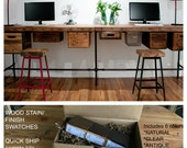Reclaimed Wood Desk, Home Office, Office Furniture.  Buy a Finish/stain sample kit here to see them in person