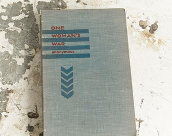 1930 ONE WOMAN'S WAR Vintage Lined Notebook Journal