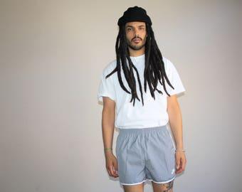 1980s Vintage Nike Swoosh Athletic Short Gym Shorts - Vintage Nike Shorts - 80s Clothing - MV0181