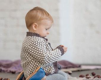 Tricot pull tricot veste bébé layette tricot cardigan baptême vêtements bébé à venir maison layette tricot layette