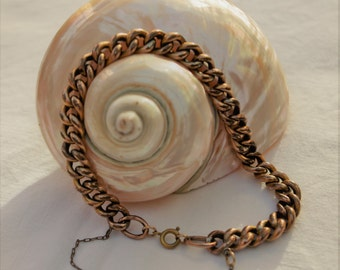 Antique - Vintage  - Rose rolled 9ct gold albert chain bracelet - c1900