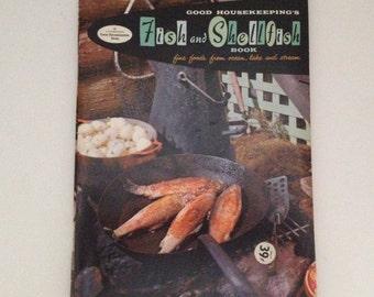Fish Shellfish Cookbook Vintage 1958 Good Housekeeping Seafood Cook Book Crab Oysters Shrimp Crab