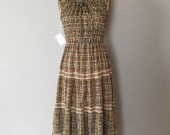 prairie maxi dress | off the shoulder crochet lace dress | ruffled sundress