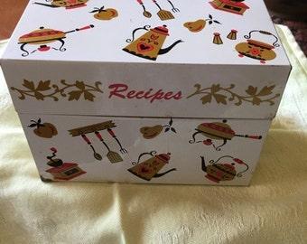 Vintage Ohio Art Recipe Box Tin Kitchen Cooking Baking Decorative Accessory