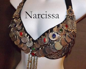 ATS Tribal Coin Bellydance Bra, Narcissa