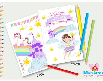 fairy magical coloring books 6 handmade coloring books fairy tale birthday personalized coloring - Cookie Monster Coloring Book