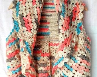Crochet Vest Bolero Shrug Capelet Jacket Cardigan Crochet Vest Women Clothing Fashion Accessories Gift For Her Free Shipment