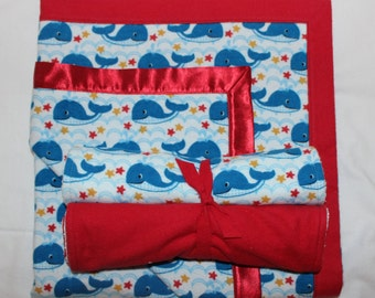 Whale Flannel Gift Set
