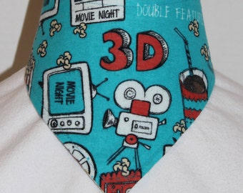 Movie Time Reversible Bandana Bib