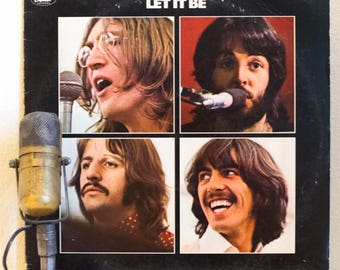 "The Beatles Vinyl Record Album LP 1970s British Classic Rock ""Let it Be"" (1978 Capitol re-issue w/""Get Back"", ""The Long and WInding Road"")"