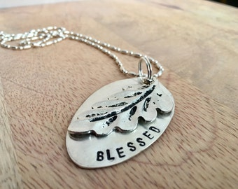 Blessed Leaf Necklace Pendant