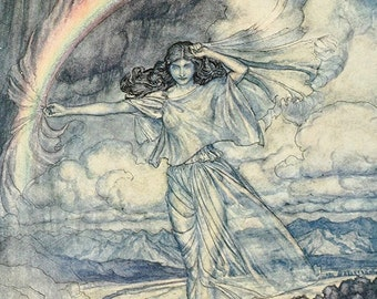 Irish With Humid Bow,  Arthur Rackham, Vinatge Art Print