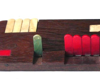 Antique Score Keeper Bridge Counter Whist Counter  1930s Free Shipping