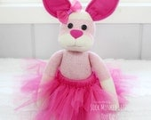 Bunny Rabbit Ballerina Doll, Child's Stuffed Plush Toy