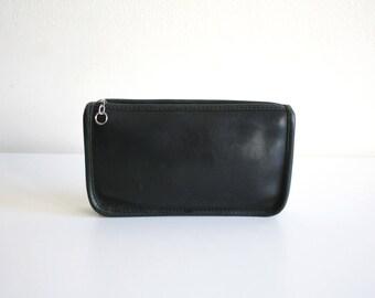 Black Coach Wallet Makeup Bag