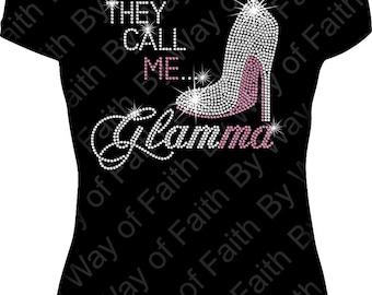 They Call Me GLAMMA Bling Rhinestone / Glitter Tank Top, Gifts For Grandma, Shirt Idea for Grandma, Nana, GiGi or Glamma