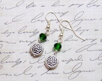 Celtic Earrings, Outlander Jewelry, Scottish Jewelry, Celtic Jewelry, Celtic Wedding, Scottish Earrings, Irish Jewelry, Celtic Knot Earrings