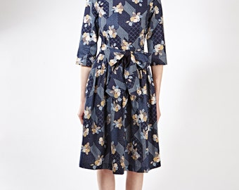 1950 party dress Classic dress Formal dress Prom dress Long sleeve dress Mother of the bride Handmade dress Dress size XS S M L XL 1X