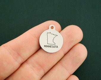 Minnesota State Stainless Steel Charms - Exclusive Line - Quantity Options - BFS2028