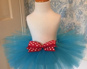 Dr Suess Tutu - Cat In The Hat Tutu - Party Tutu - Birthday Tutu - Halloween Tutu