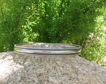 Vintage TAHE Navajo Sterling Silver Bracelet, Regalia, Tribal, Aztec, Pow Wow, Southwestern Jewelry, Native American Made