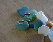 Cowrie Shell Dangle Earrings in Sterling Silver, Drop Earrings, Handmade, Shell Earrings, Shell Jewelry