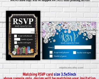 Reserved for someone purchased invitation - ADD ON option, Matching 3.5x5 RSVP card
