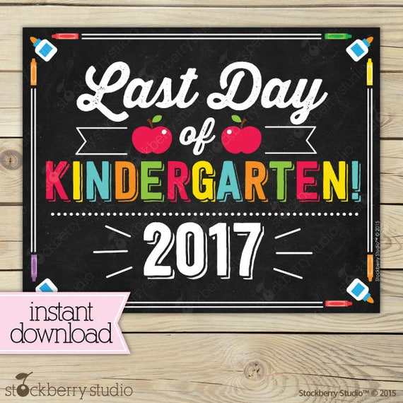 Persnickety image within last day of kindergarten printable