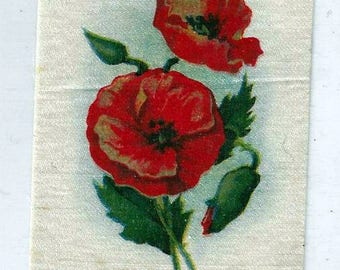 Vintage Poppies (36) Cigarette Tobacco Silk, early 1900s