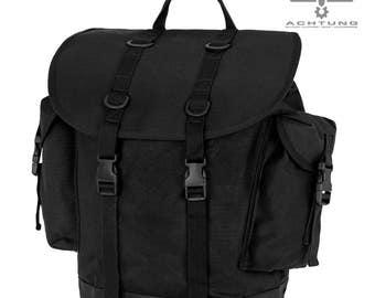 German Black Mountain Rucksack Military Backpack