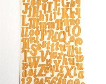 Studio Calico Wood Grain Alphabet Stickers