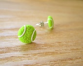 Custom Listing, Sporty Girl Earrings... Tennis Balls, 22 pairs