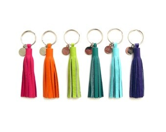 "3"" Leather Tassel Key Chain 