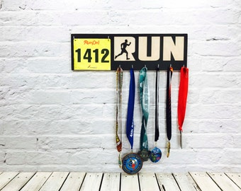 Running Medal Holder, Race Medal Holder, Race Bib Holder, Medal Display, Marathon Running Gift and Race Bib Medal Hanger Runner
