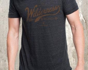 Wilderness Bound Vintage Styled Tee - Men's American Apparel Tri-Blend T-Shirt