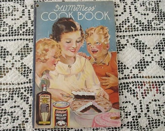 Vintage Cook Book Pamphlet H W McNess Booklets Vintage Recipes Advertisements Household Hints Spanish Soups Breads Cakes Candies Cookies